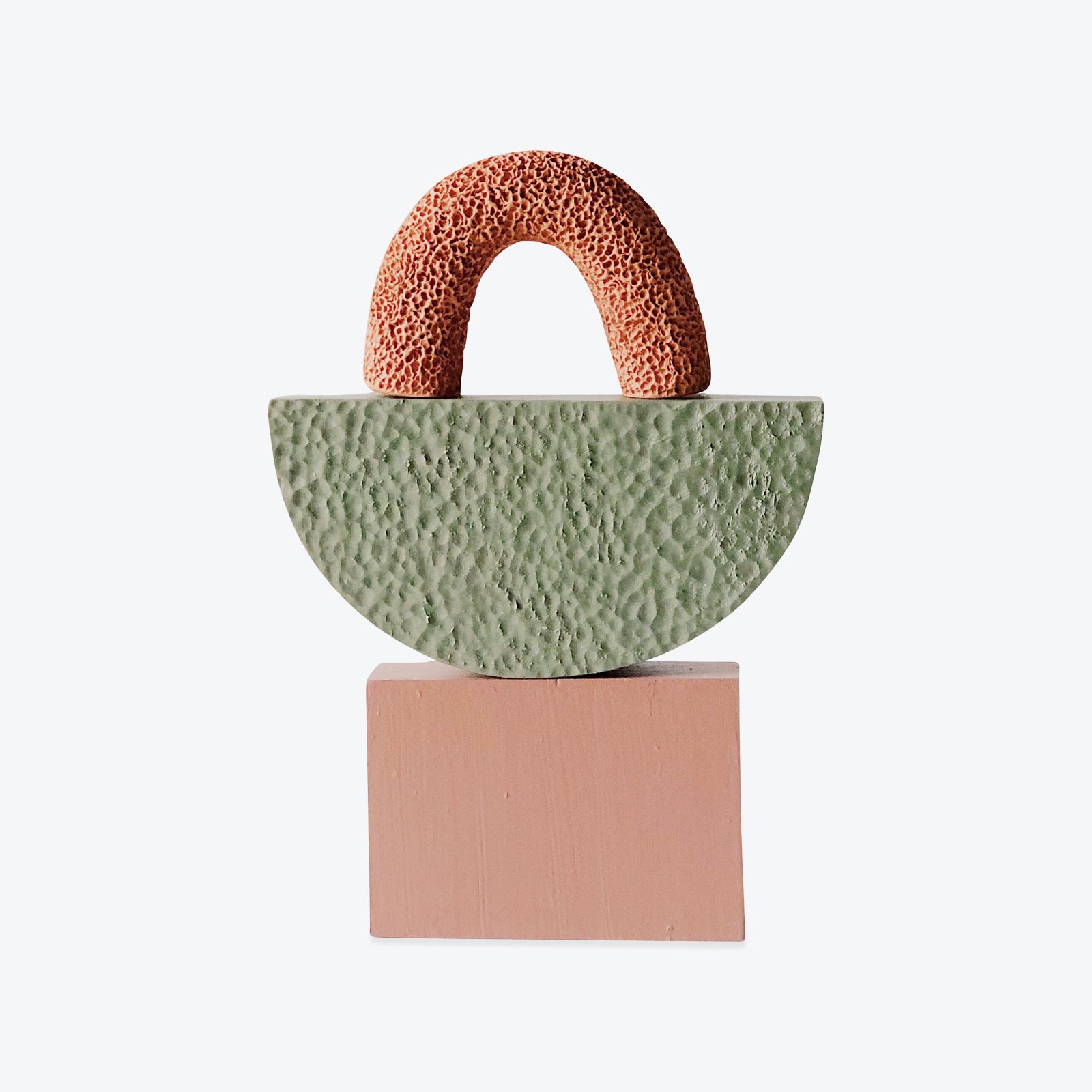 Small Space Sculpture In Terracotta And Timber By Hearth Collective (alichia Van Rhijn) 01