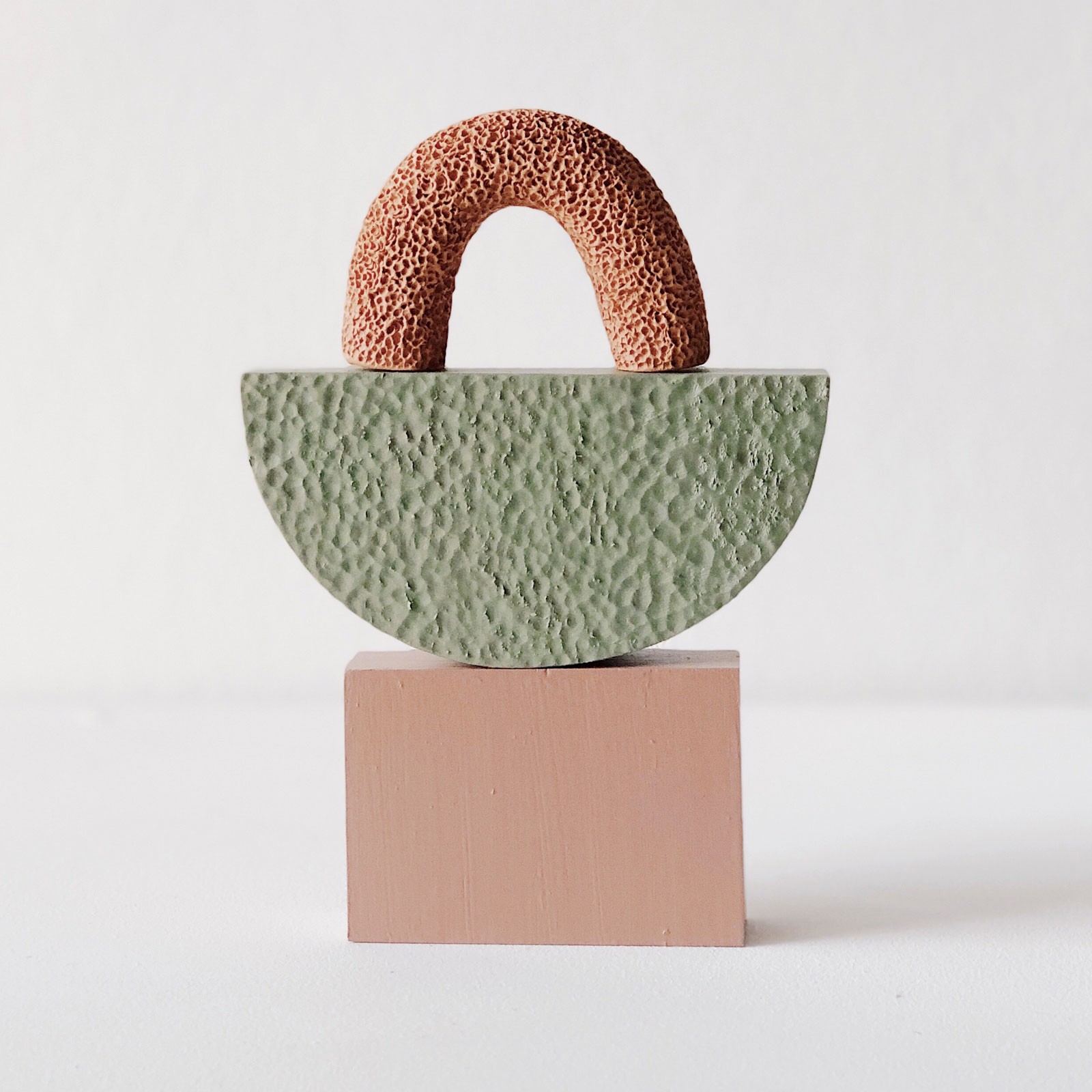 Small Space Sculpture In Terracotta And Timber By Hearth Collective (alichia Van Rhijn) 02