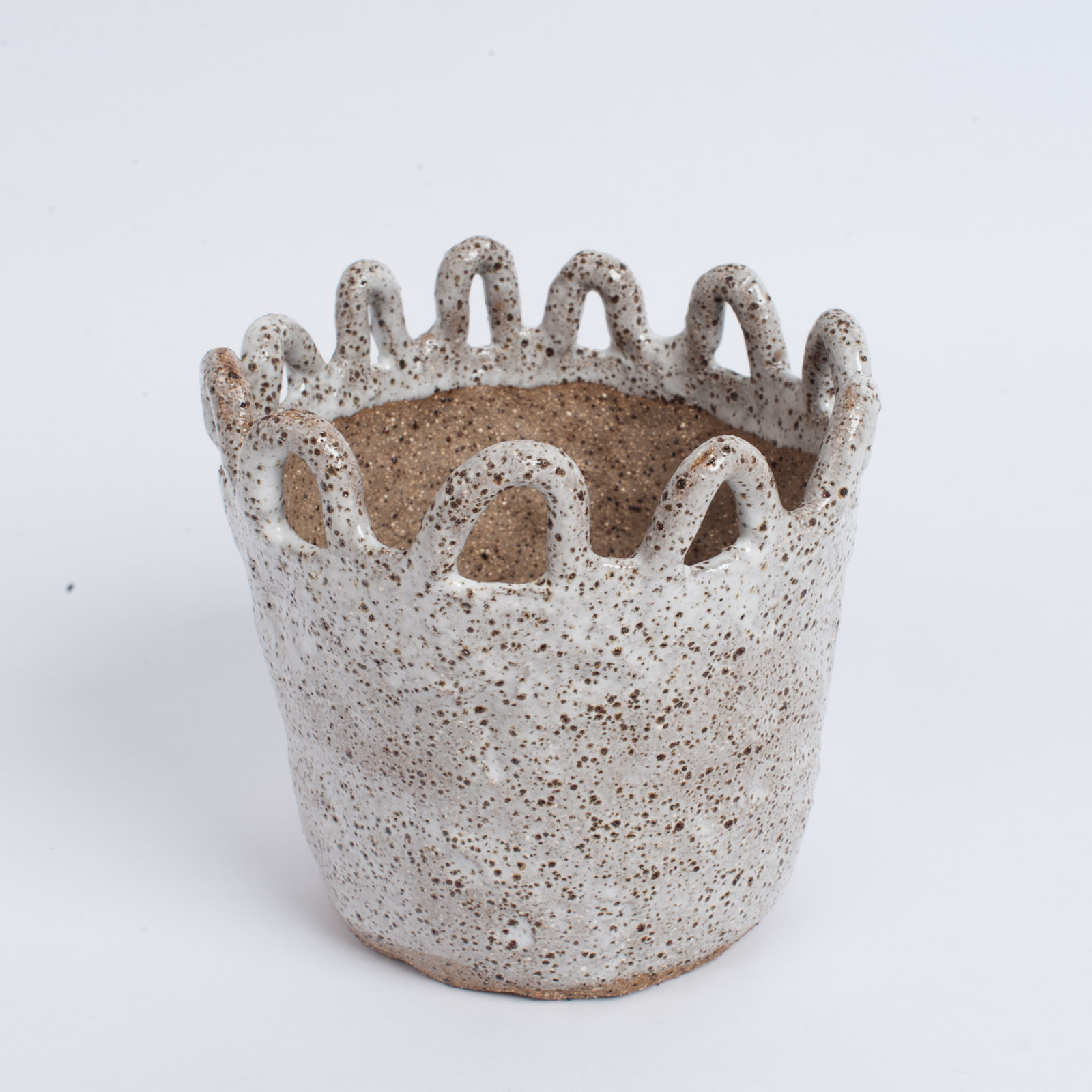 Squiggle Planter In Speckled Stoneware By Gretel Corrie 02