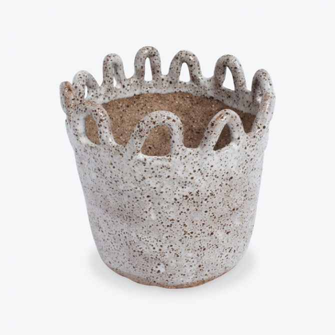 Squiggle Planter In Speckled Stoneware By Gretel Corrie Thumb.jpg