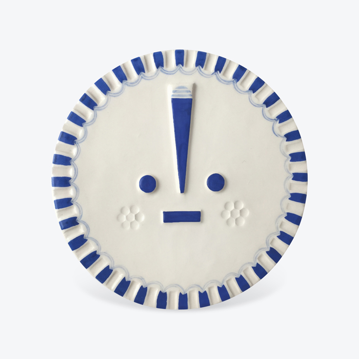 Sundaysun Blue Ceramic Face Wall Hanging By Louise Kyriakou Thumb.jpg.jpg