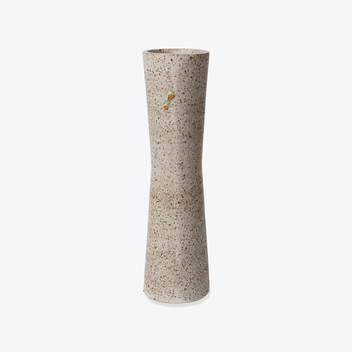 Totem Vase In Grey Satin Stoneware By Claudia Lau Thumb.jpg