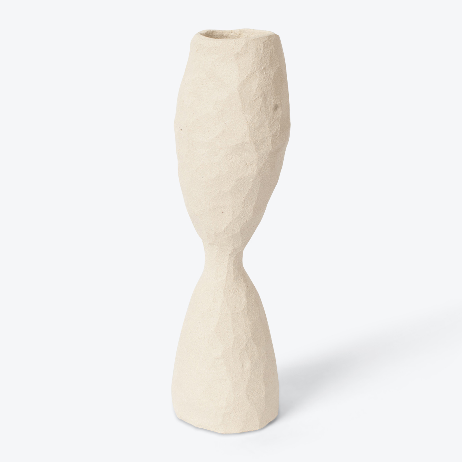 Wide Sentinel Vase In White Clay By Ella Bendrups 01