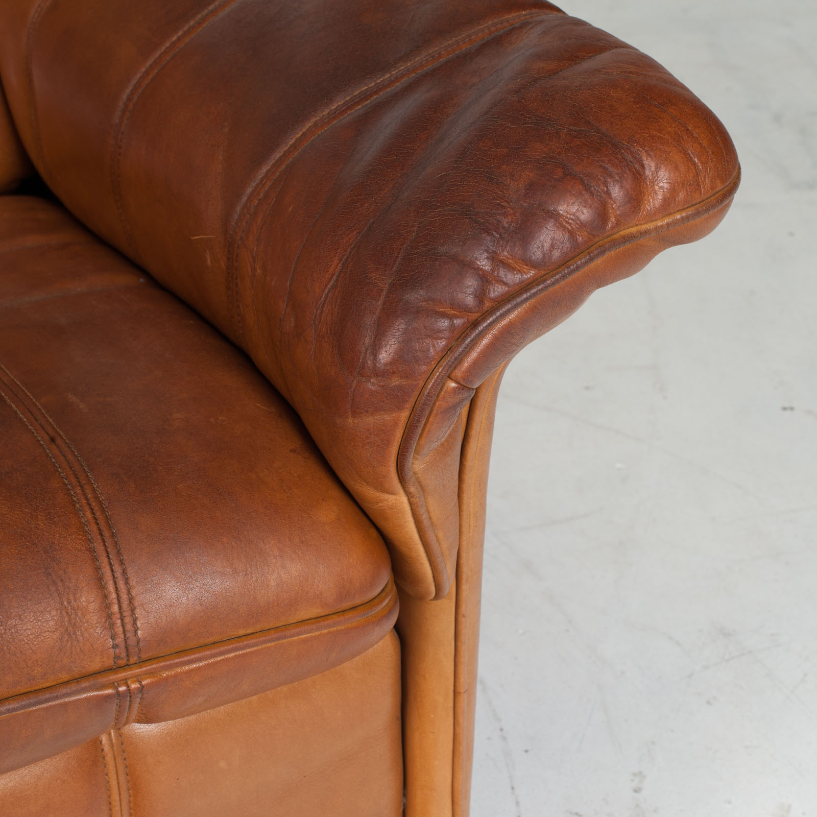 2 Seat Sofa By De Sede In Tan Leather 1970s Switzerland 10