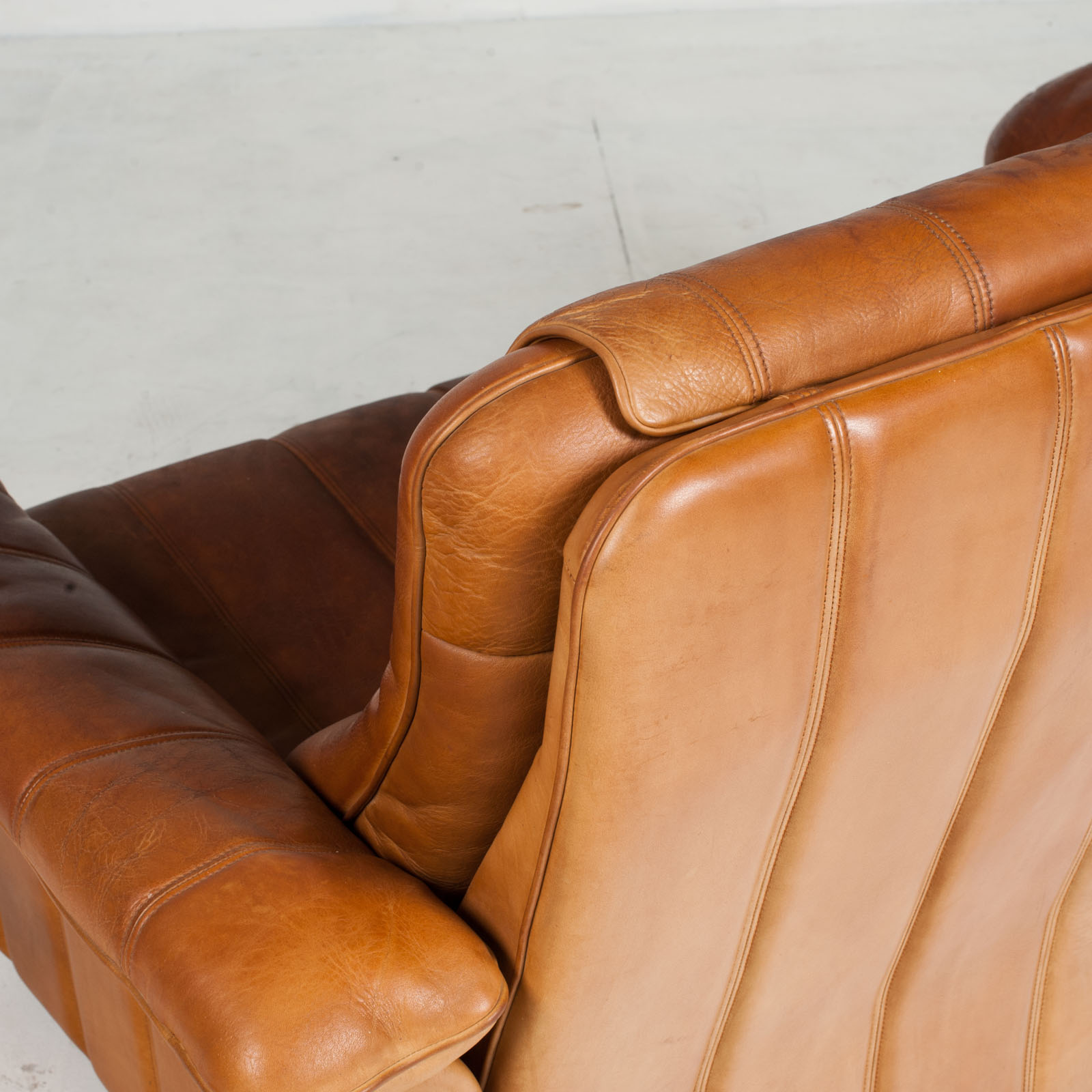 2 Seat Sofa By De Sede In Tan Leather 1970s Switzerland 14