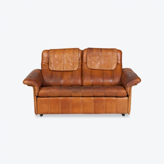 2 Seat Sofa By De Sede In Tan Leather 1970s Switzerland Thumb.jpg