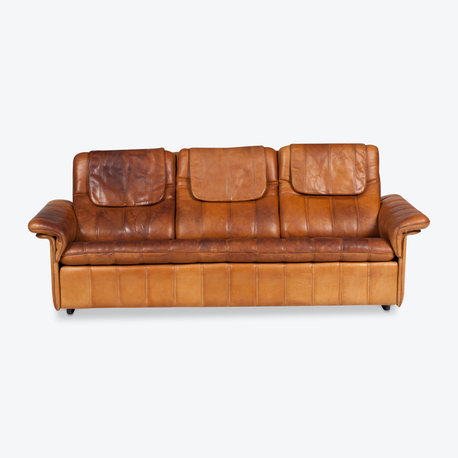 3 Seat Sofa By De Sede In Tan Leather 1970s Switzerland 01