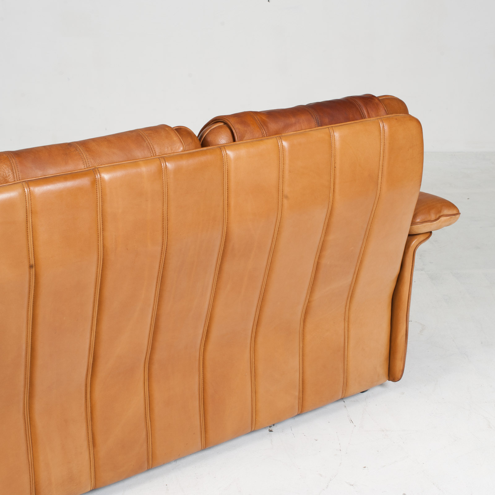 3 Seat Sofa By De Sede In Tan Leather 1970s Switzerland 13