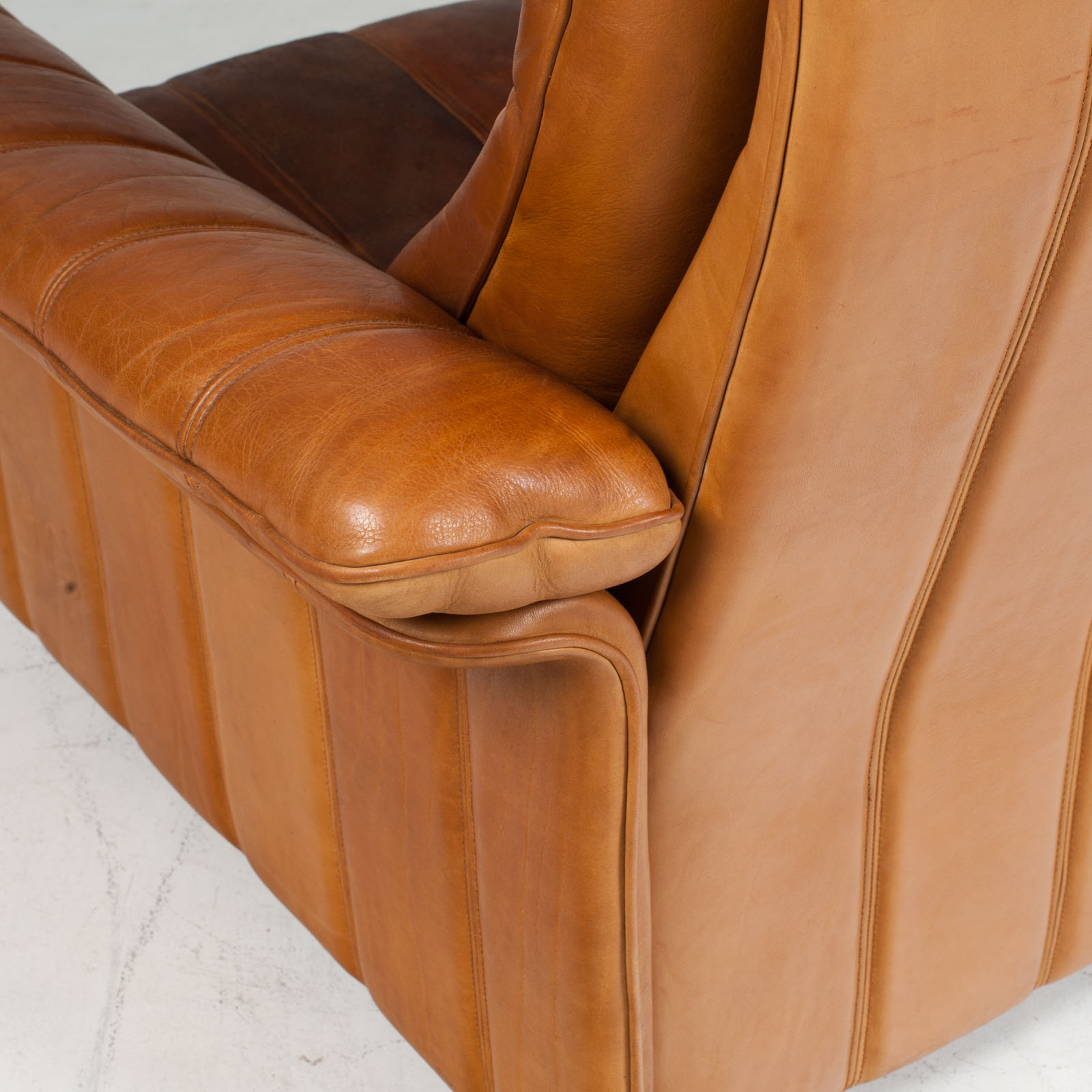 3 Seat Sofa By De Sede In Tan Leather 1970s Switzerland 14