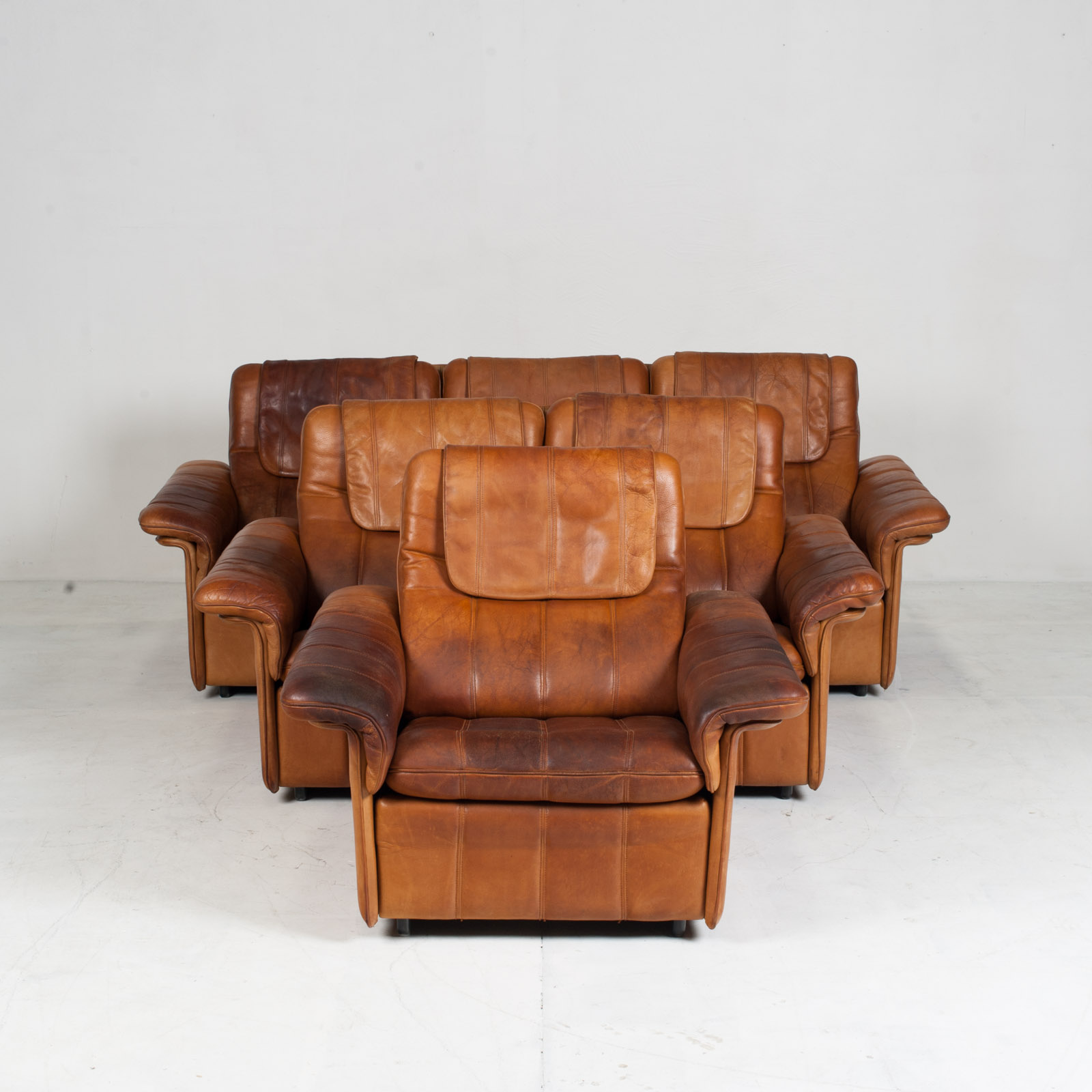3 Seat Sofa By De Sede In Tan Leather 1970s Switzerland 15