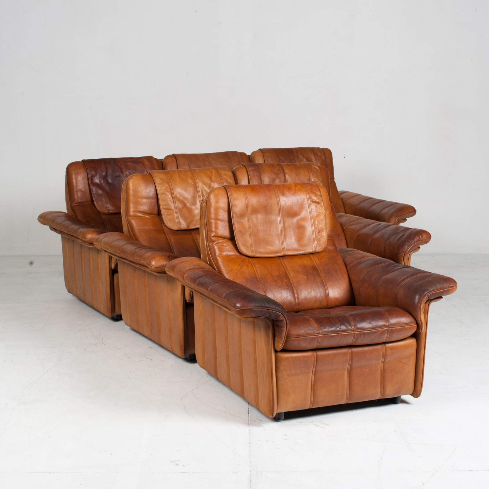 3 Seat Sofa By De Sede In Tan Leather 1970s Switzerland 16