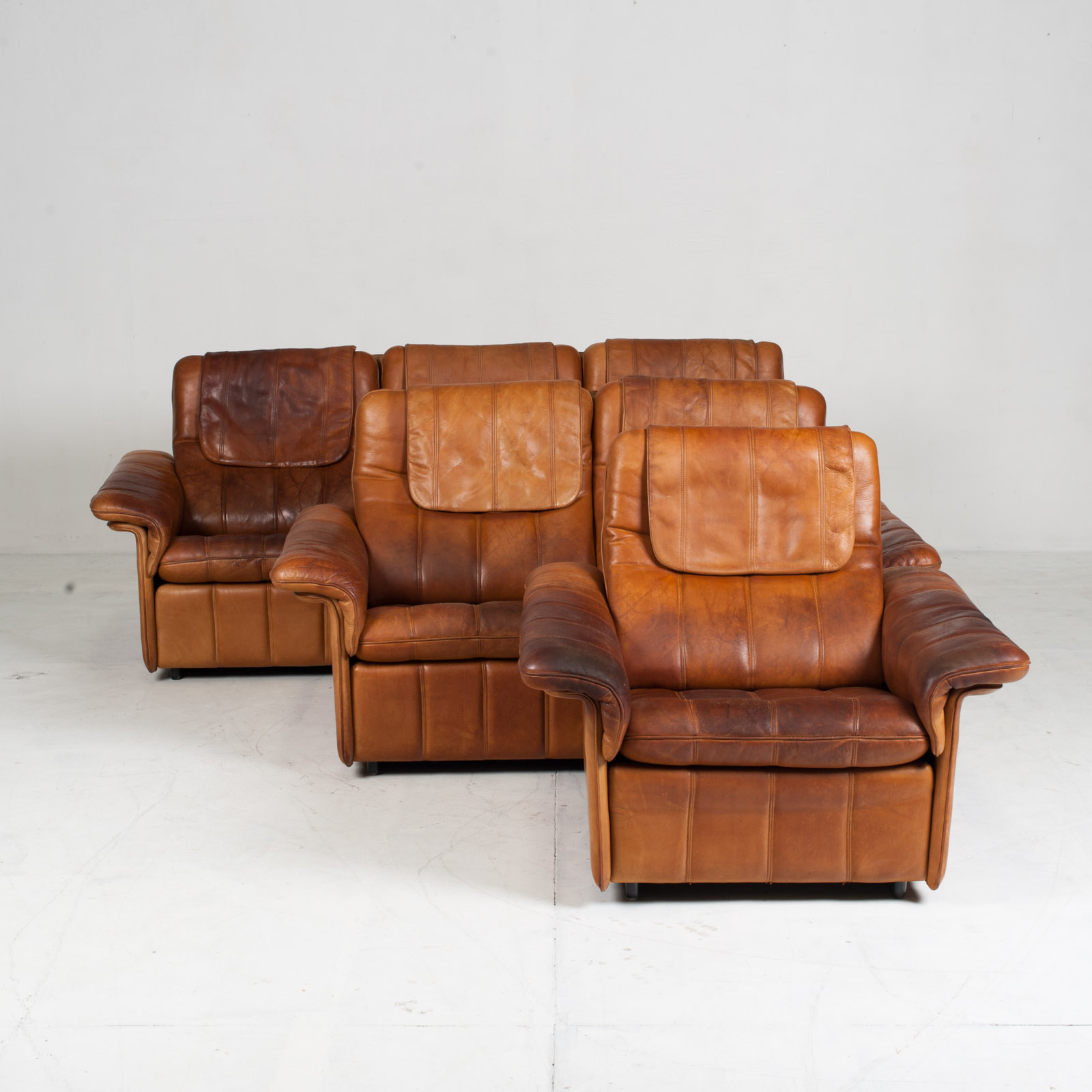 3 Seat Sofa By De Sede In Tan Leather 1970s Switzerland 17