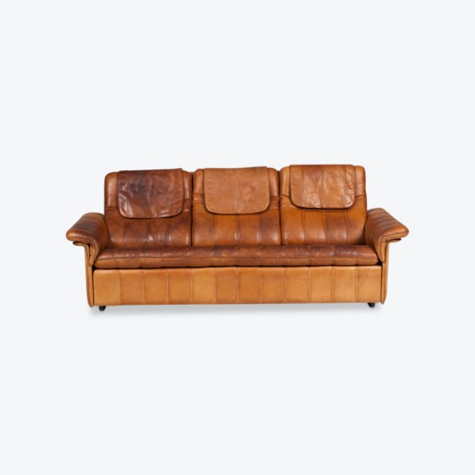3 Seat Sofa By De Sede In Tan Leather 1970s Switzerland Thumb.jpg