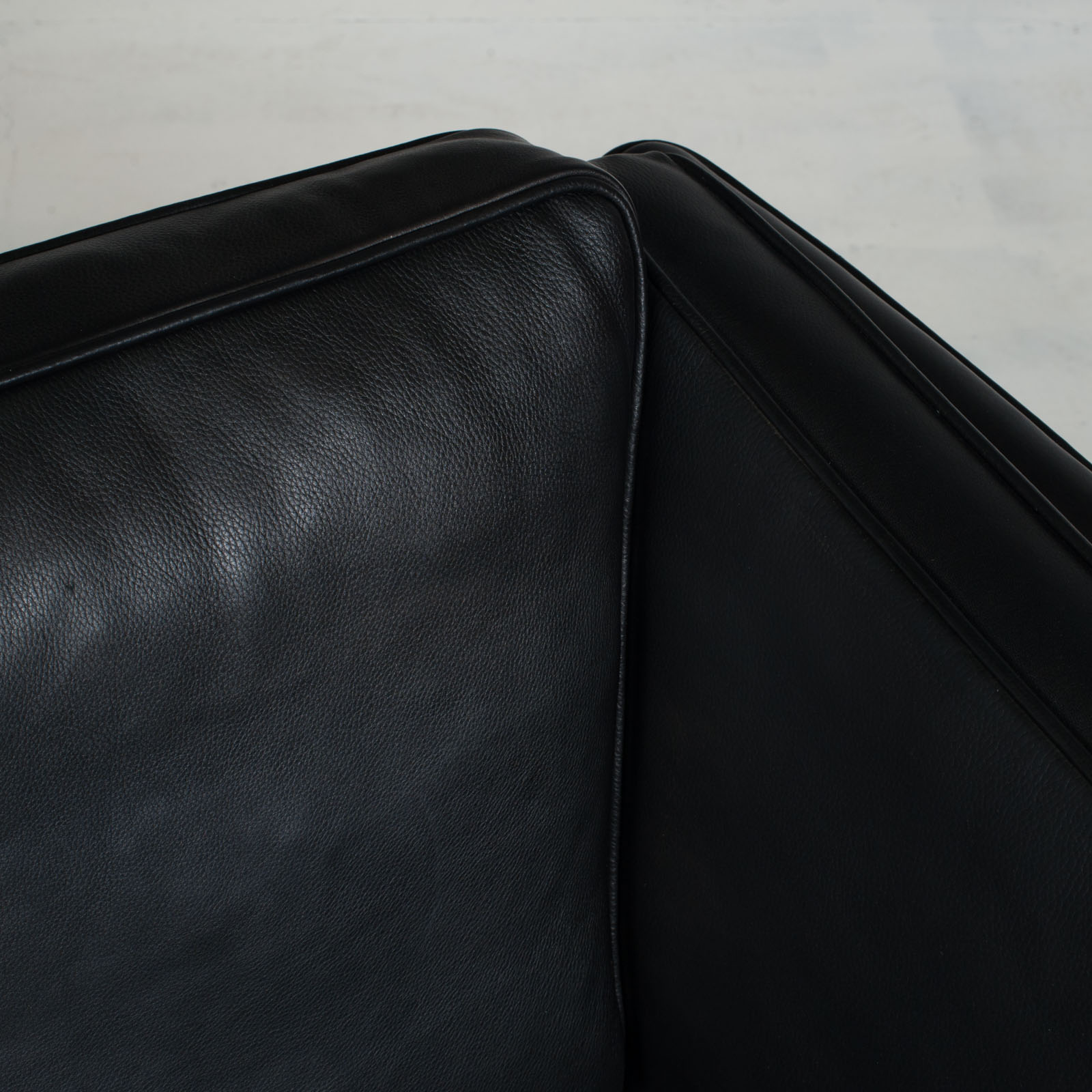 3 Seat Sofa In Black Aniline Leather 1960s Denmark 08