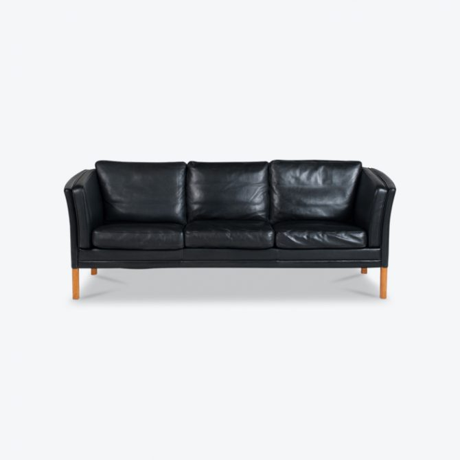 3 Seat Sofa In Midnight Leather By Mogens Hansen 1960s Denmark Thumb.jpg