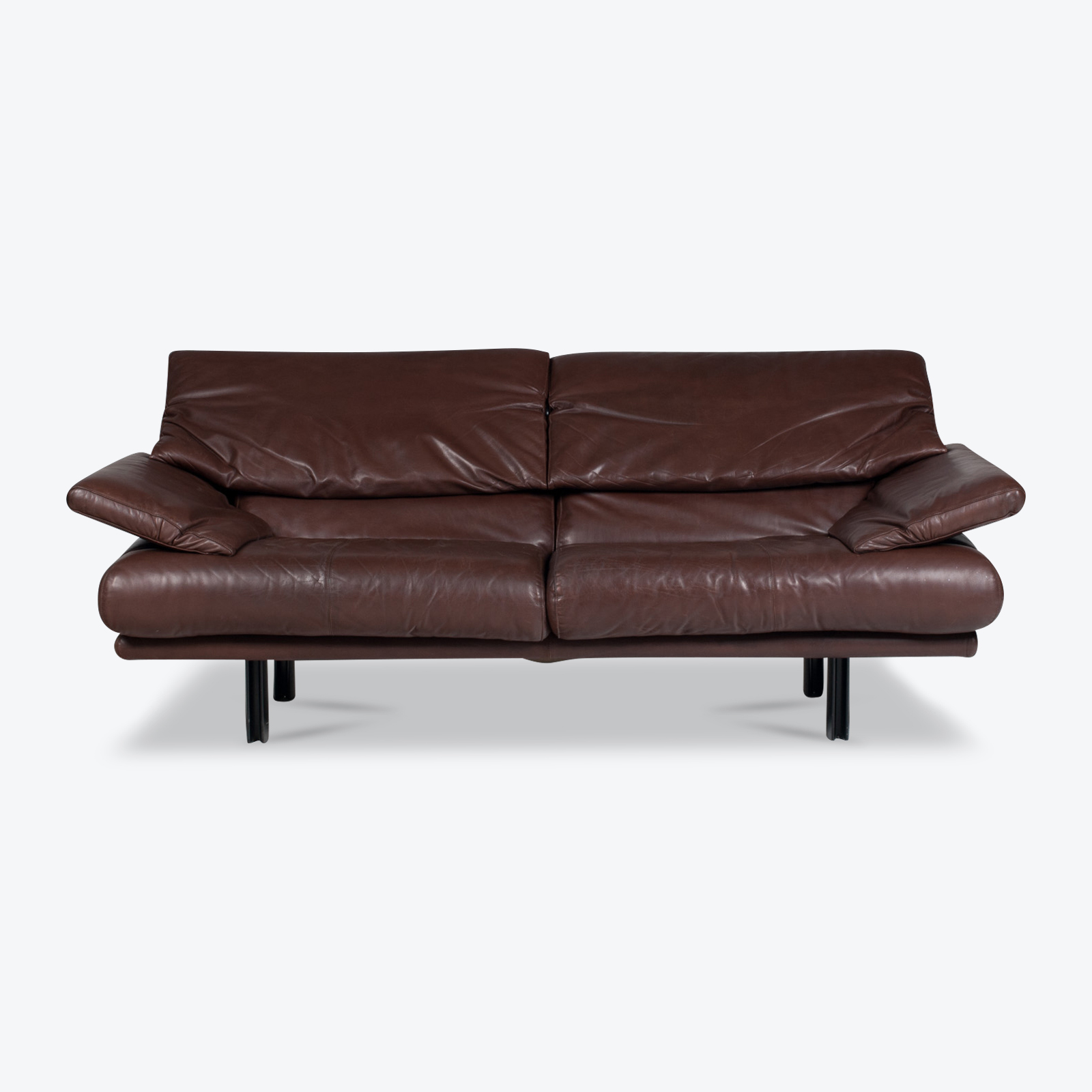 Alanda Sofa By Paolo Piva For B Amp B Italia In Brown Leather