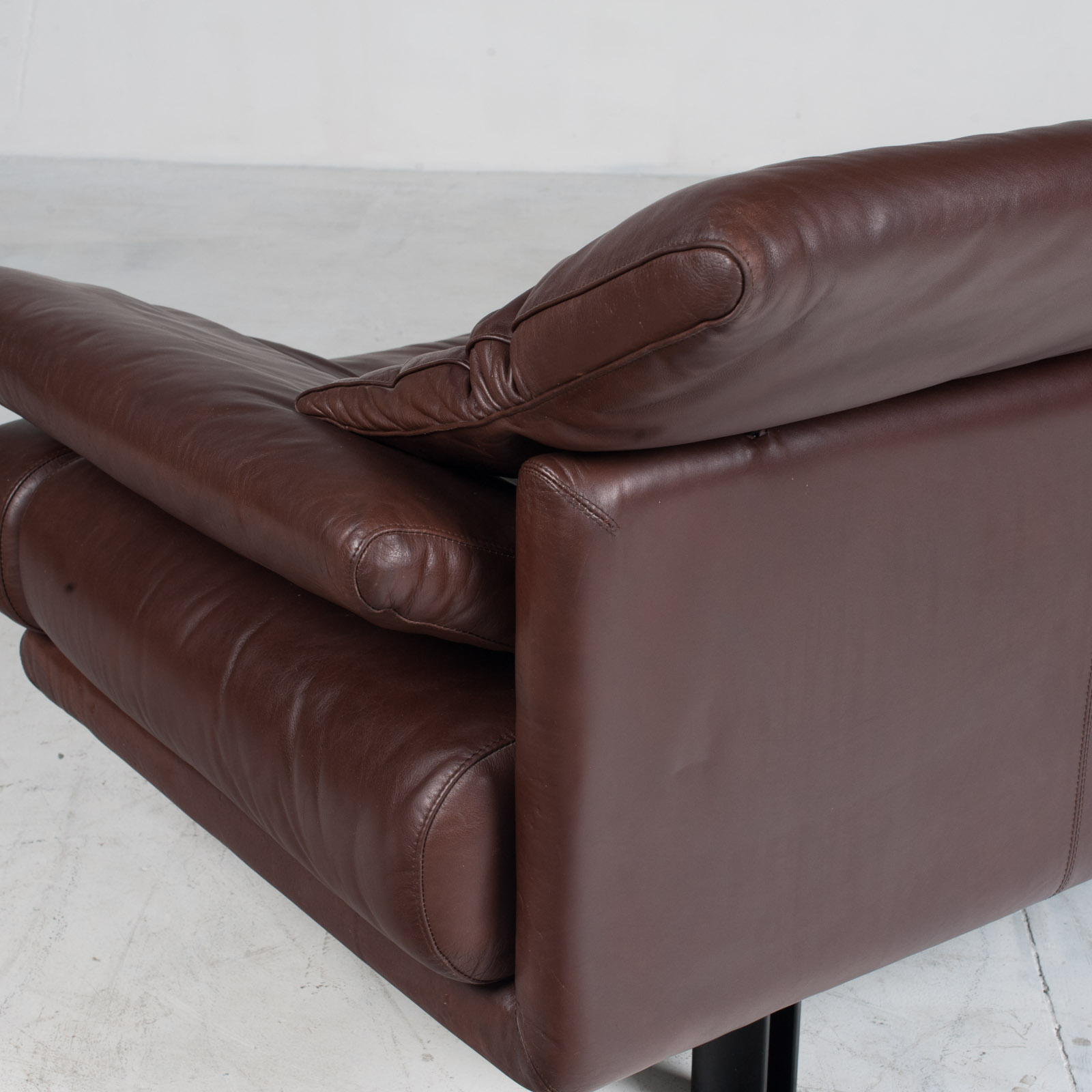 Alanda Sofa By Paolo Piva For B&b Italia In Burgundy Leather 1980s Italy 19