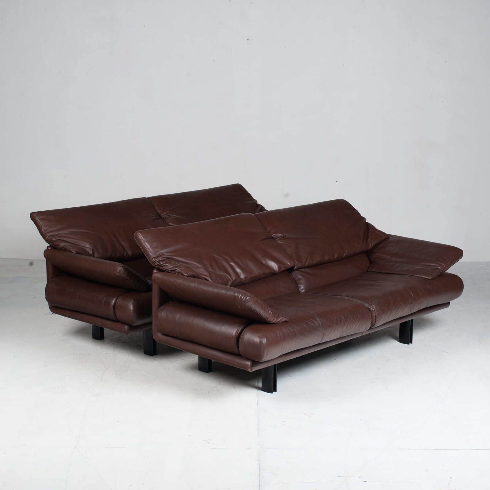 Alanda Sofa By Paolo Piva For B&b Italia In Burgundy Leather 1980s Italy 20