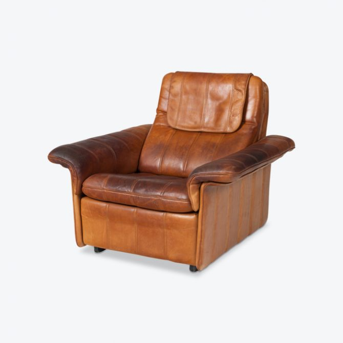Armchair By De Sede In Tan Leather 1970s Switzerland Thumb.jpg