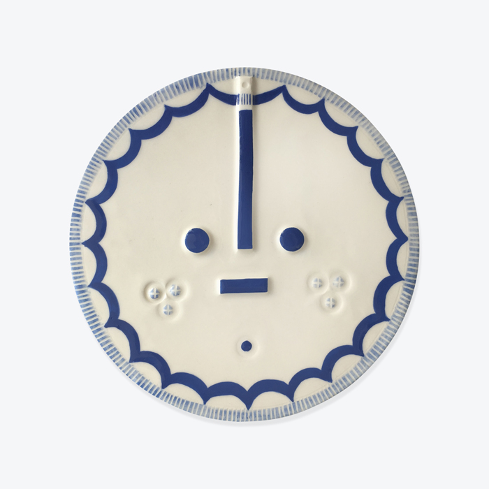 Art Songsung Blue Ceramic Face Wall Hanging By Louise Kyriakou Thumb.jpg
