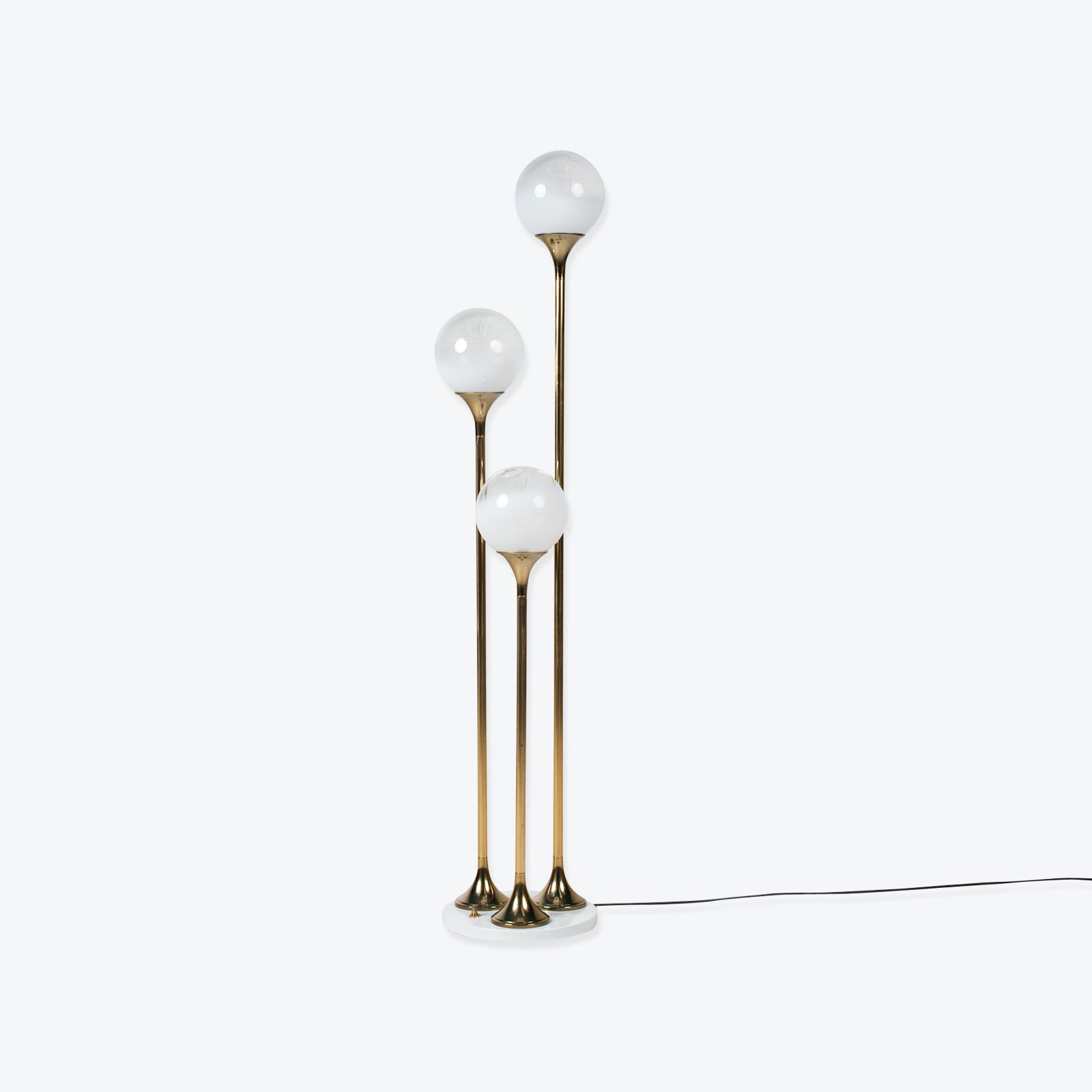 Brass Floor Lamp By Targetti Sankey 1960s Italy 01
