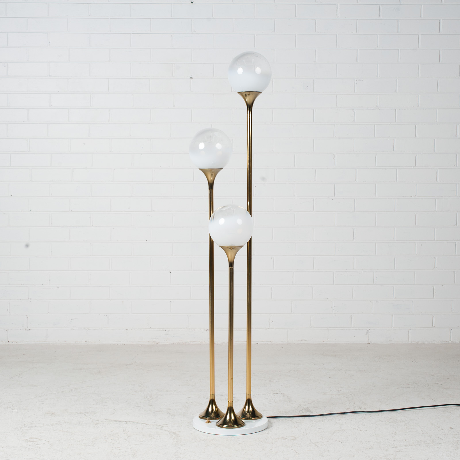 Brass Floor Lamp By Targetti Sankey 1960s Italy 02