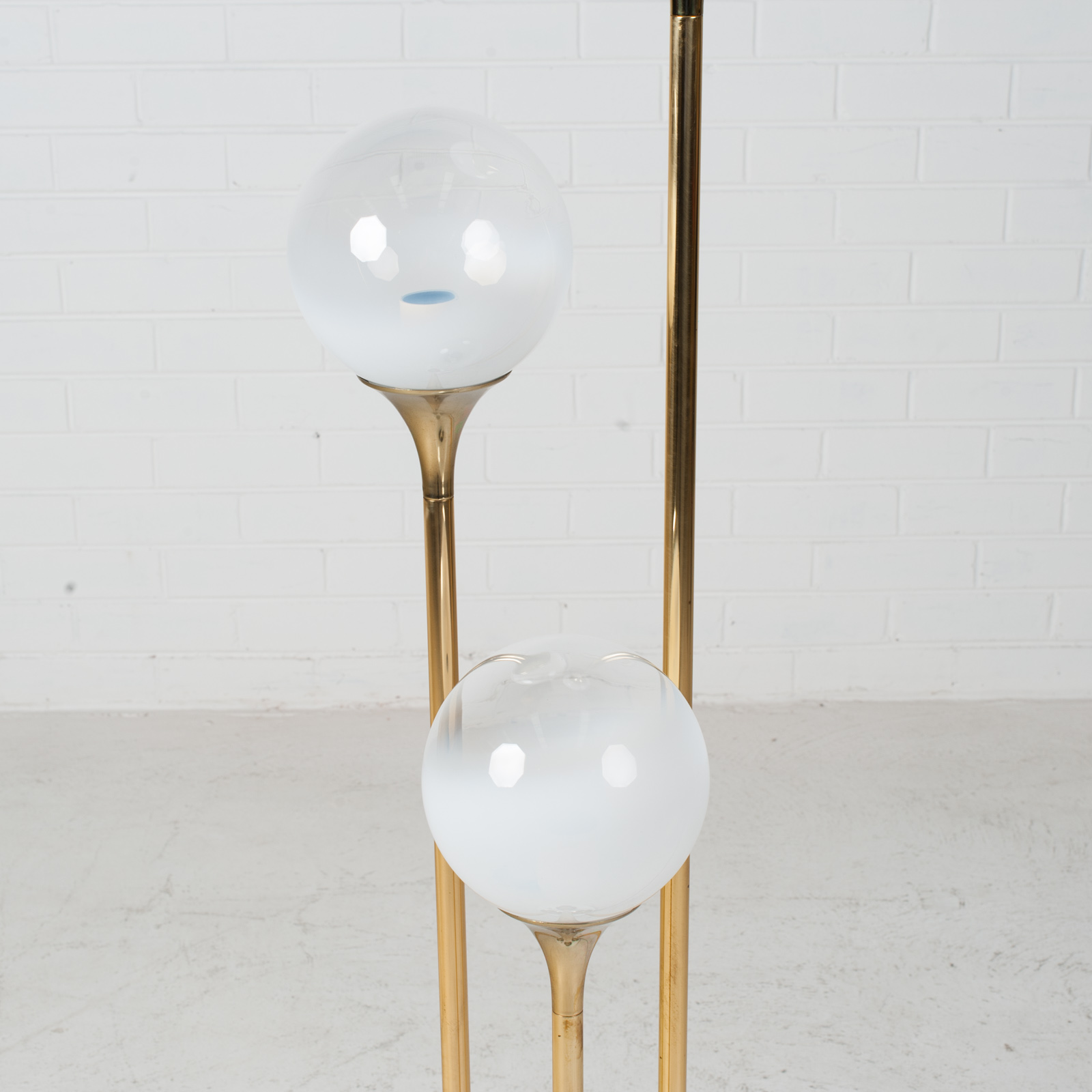 Brass Floor Lamp By Targetti Sankey 1960s Italy 08