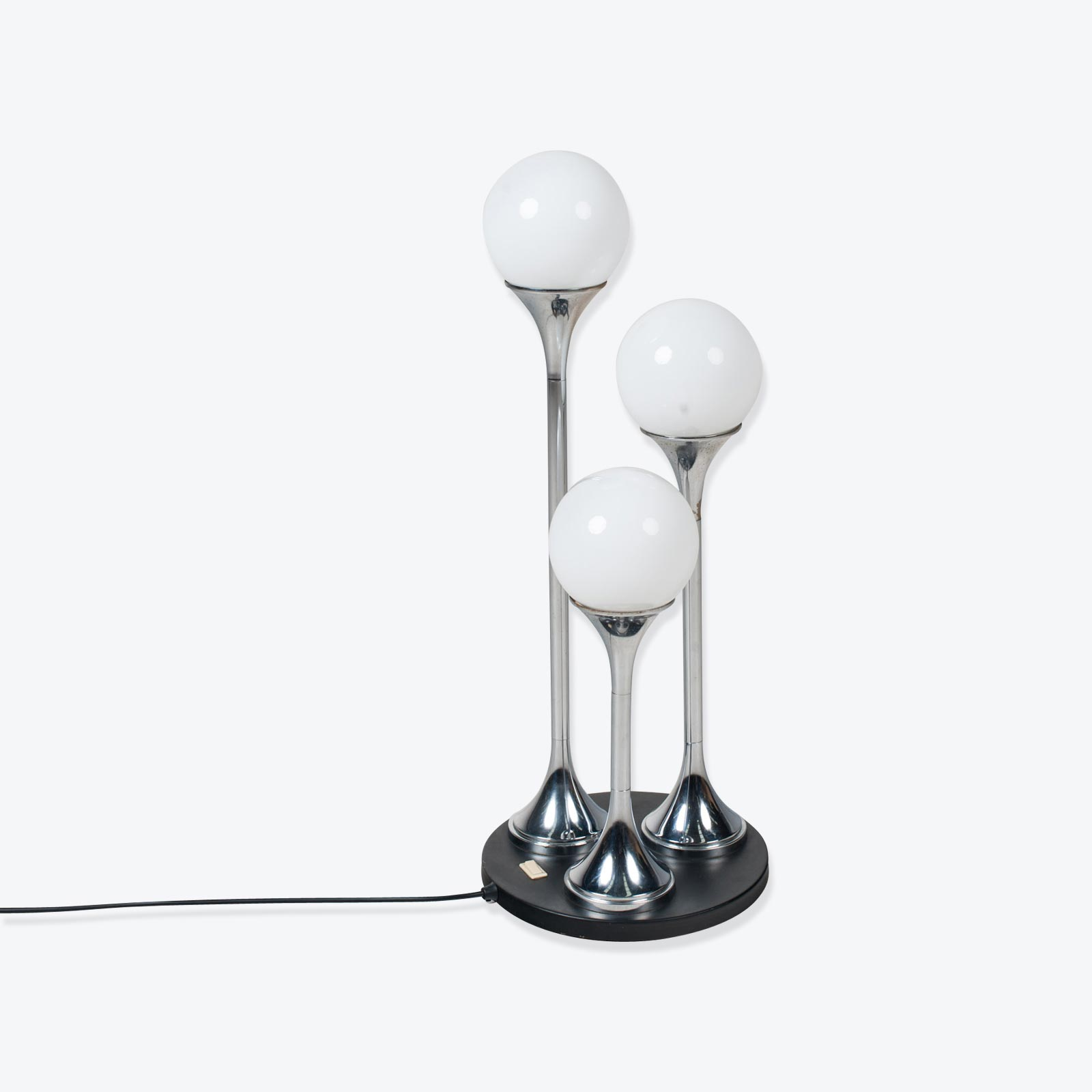 Image of: Chrome Floor Lamp By Targetti Sankey 1960s Italy Modern Times