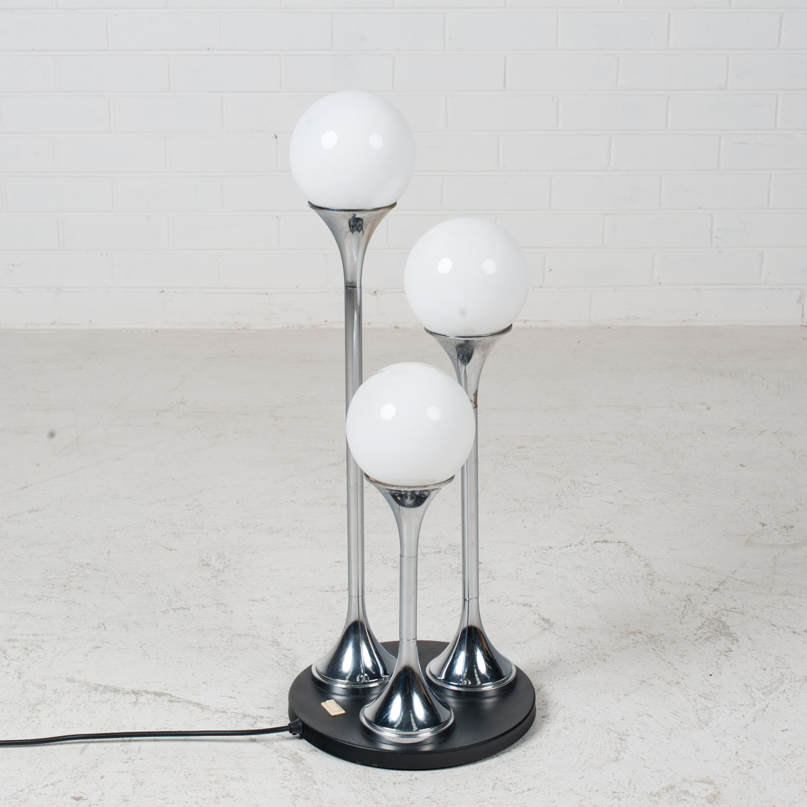 Chrome Floor Lamp By Targetti Sankey 1960s Italy 02