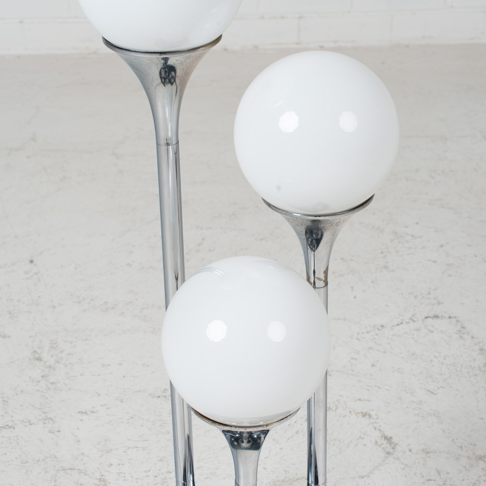 Chrome Floor Lamp By Targetti Sankey 1960s Italy 05