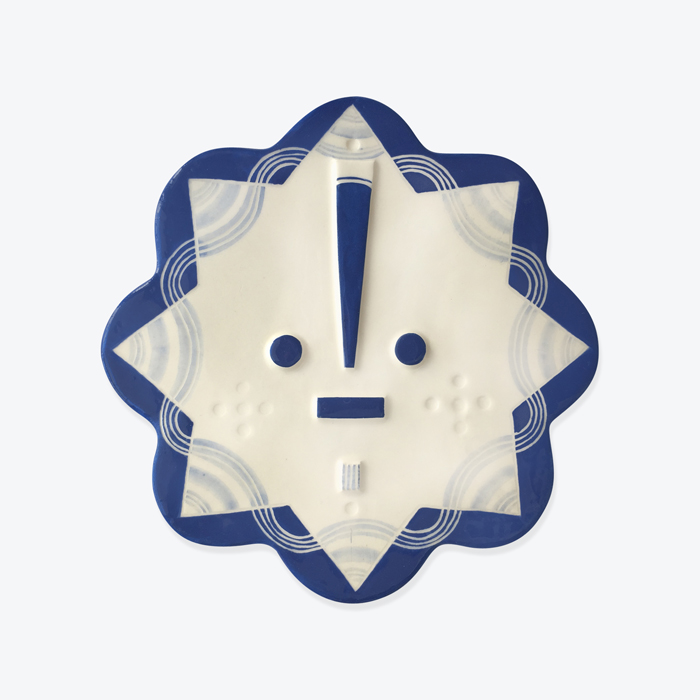 Lucie Songsung Blue Ceramic Face Wall Hanging By Louise Kyriakou Thumb.jpg