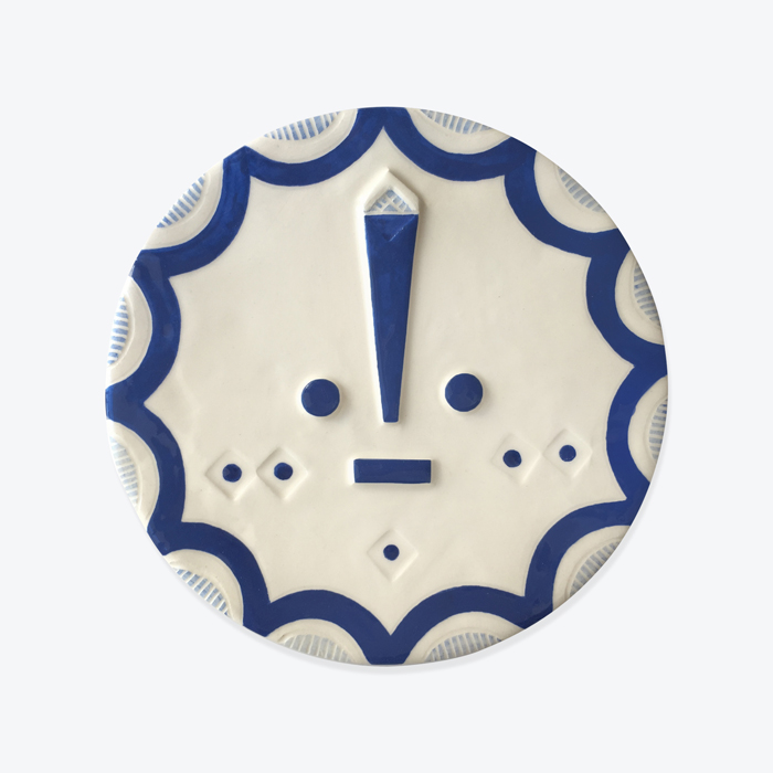 Marjory Songsung Blue Ceramic Face Wall Hanging By Louise Kyriakou Thumb.jpg
