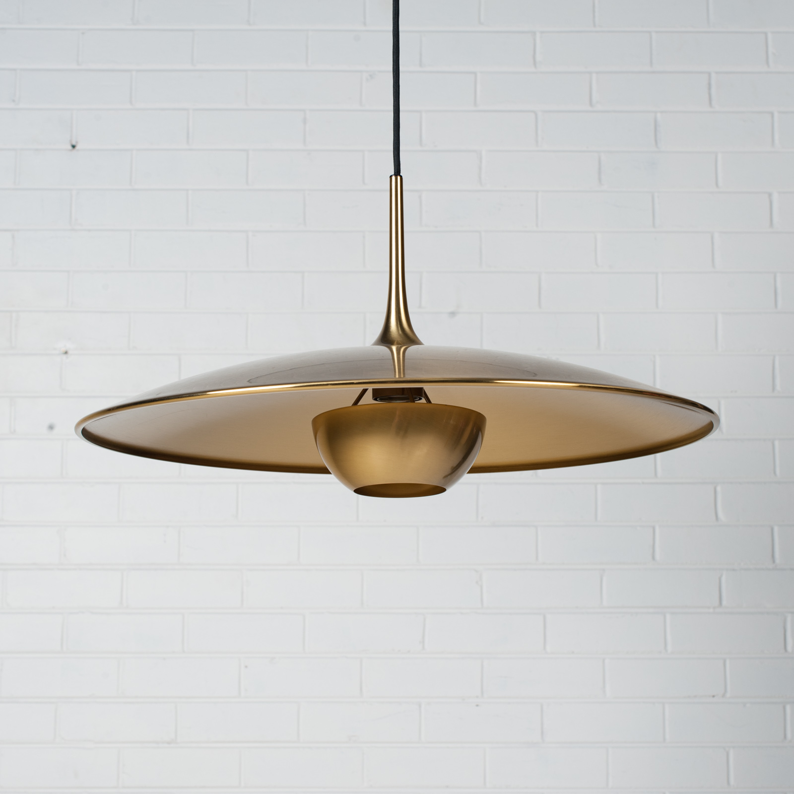 Onos 55 Counterbalance Pendant By Florian Schulz In Brass 1970s Germany 03
