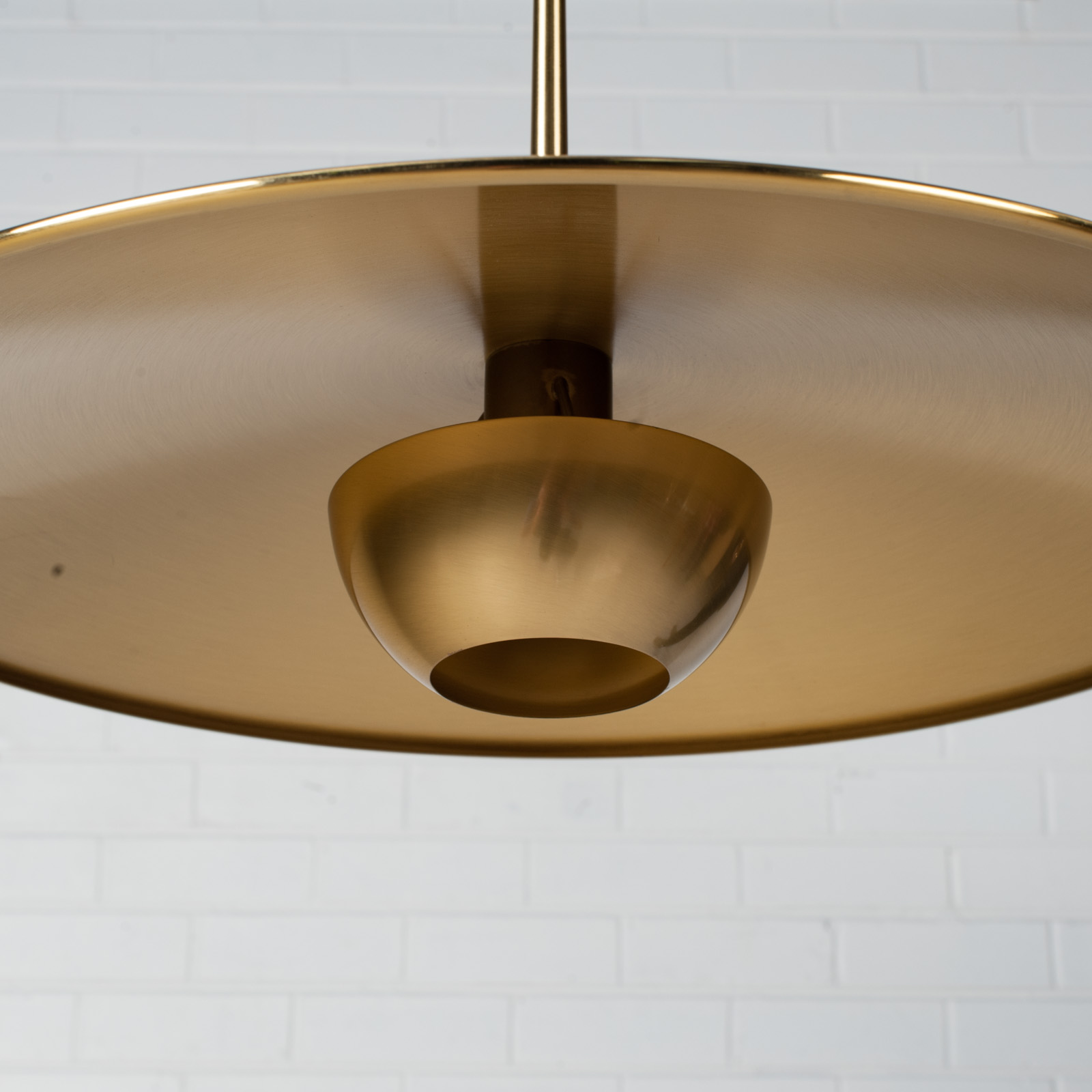 Onos 55 Counterbalance Pendant By Florian Schulz In Brass 1970s Germany 06