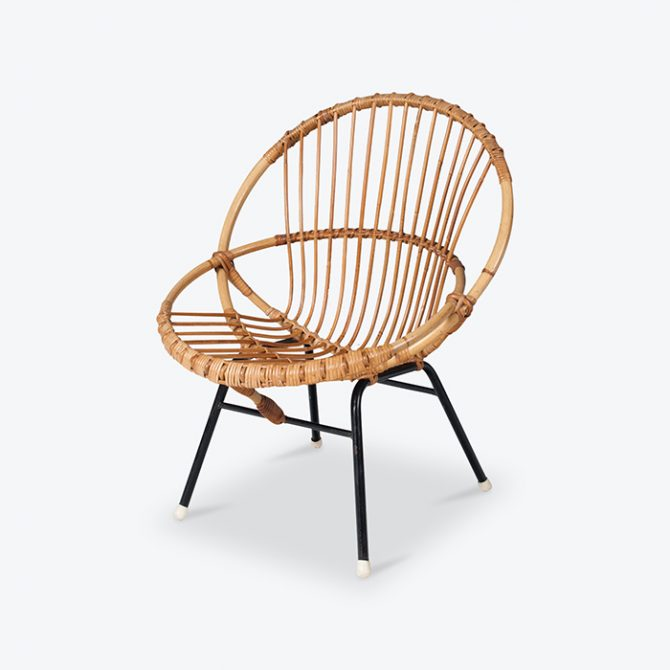 Rattan Lounge Chair By Rohe Noordwolde 1950s Netherlands Thumb1.jpg