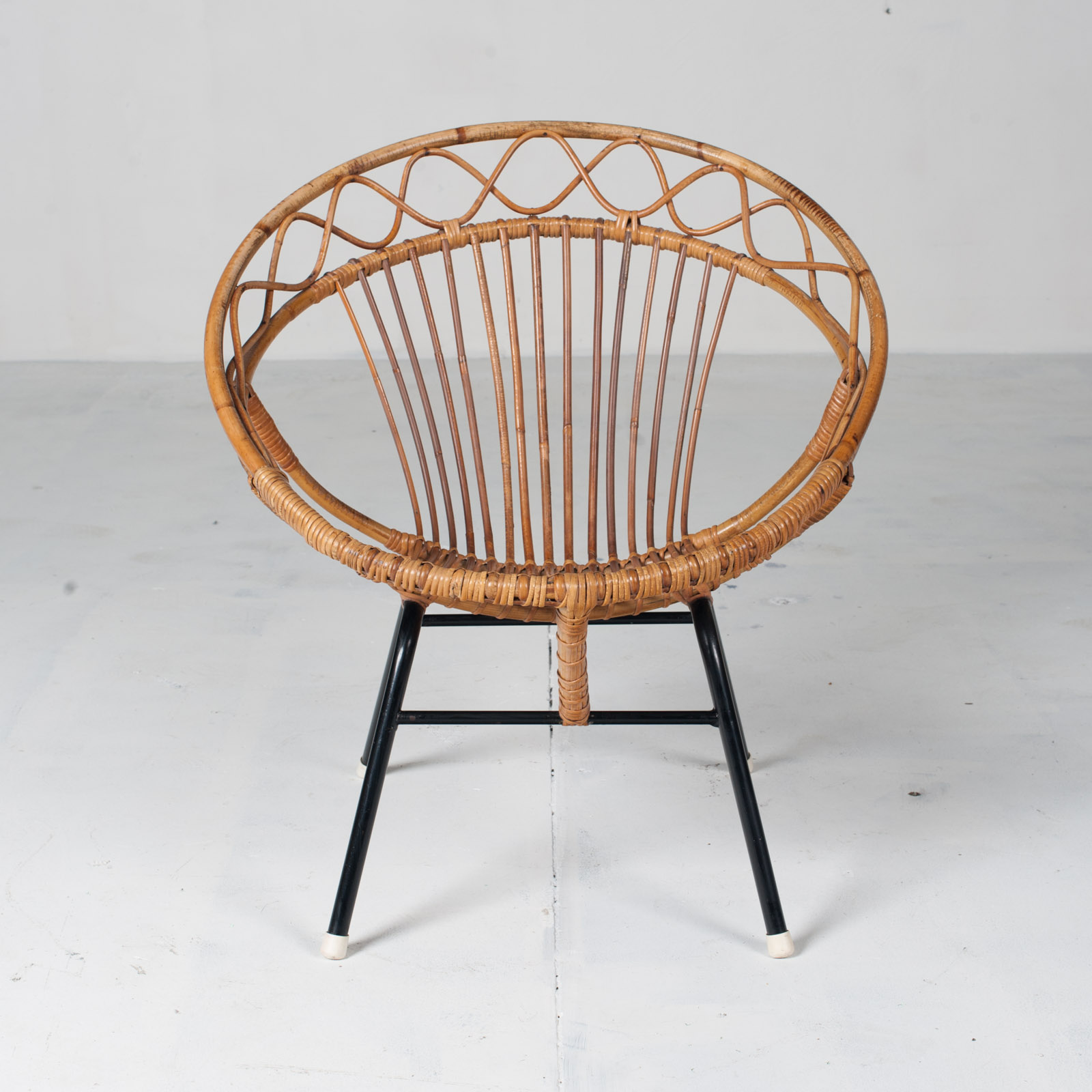 Rattan Lounge Chair By Rohe Noordwolde 1960s Netherlands 02