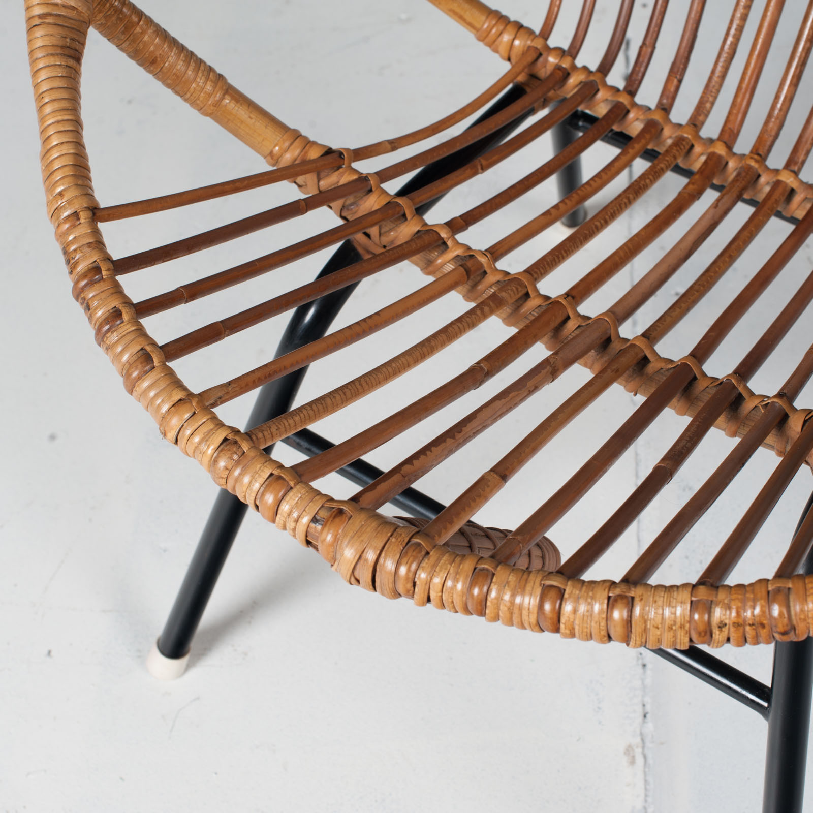 Rattan Lounge Chair By Rohe Noordwolde 1960s Netherlands 03
