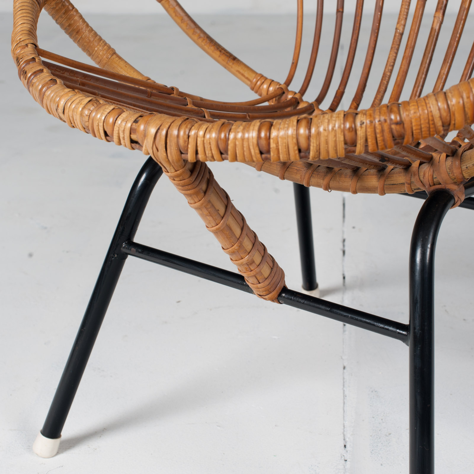 Rattan Lounge Chair By Rohe Noordwolde 1960s Netherlands 04