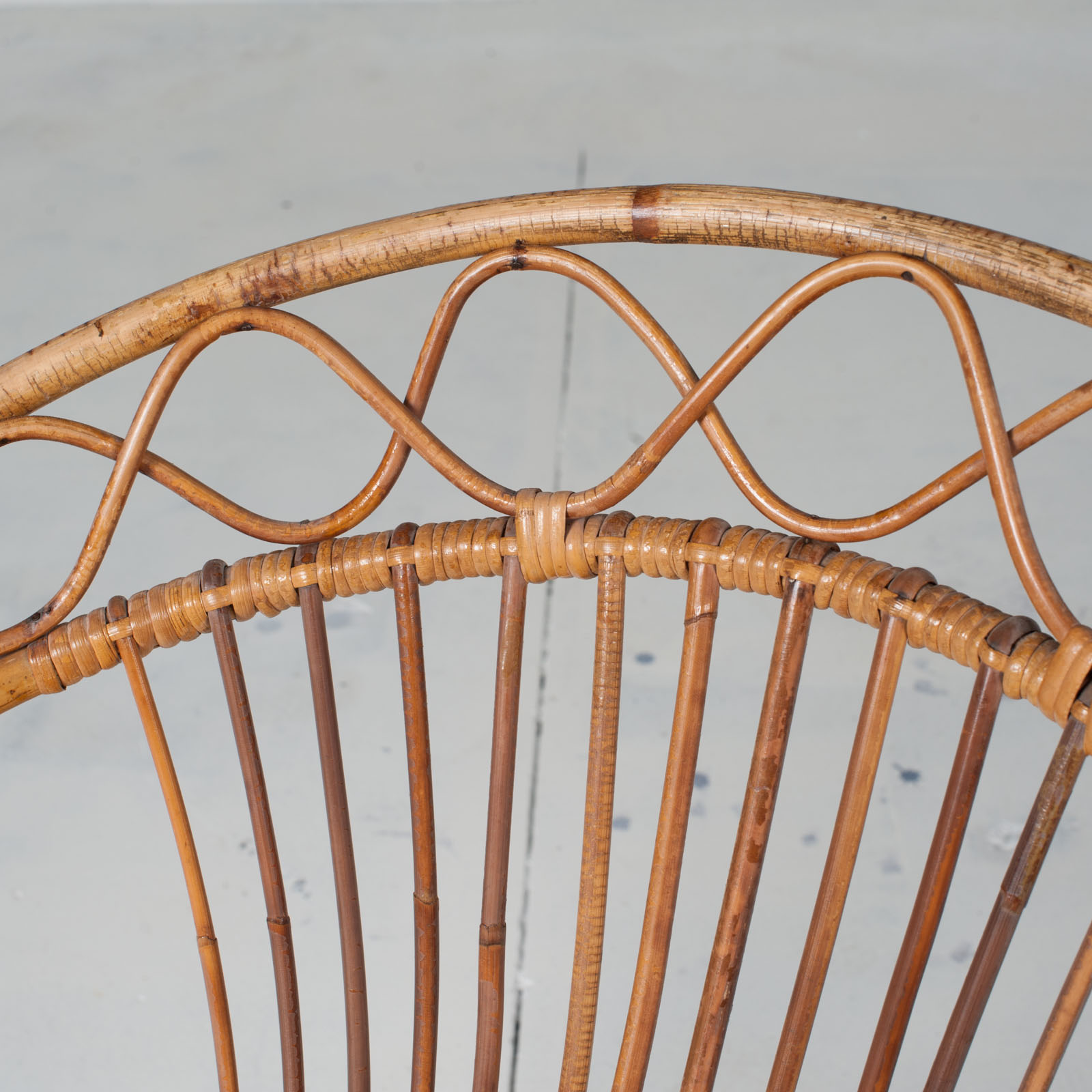 Rattan Lounge Chair By Rohe Noordwolde 1960s Netherlands 05