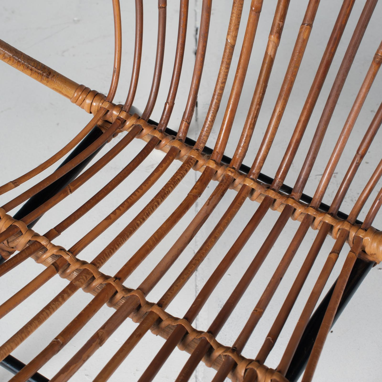 Rattan Lounge Chair By Rohe Noordwolde 1960s Netherlands 08