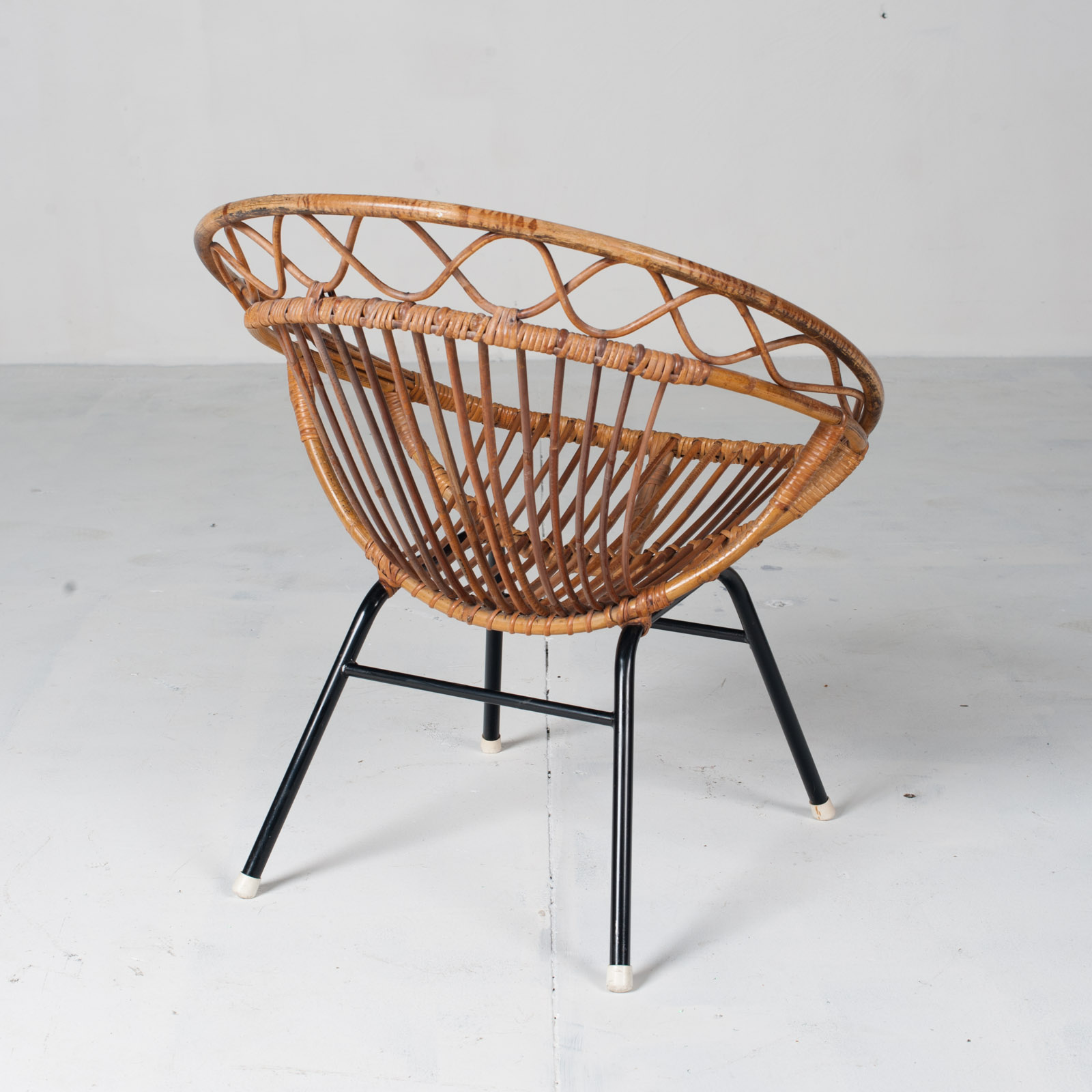 Rattan Lounge Chair By Rohe Noordwolde 1960s Netherlands 10