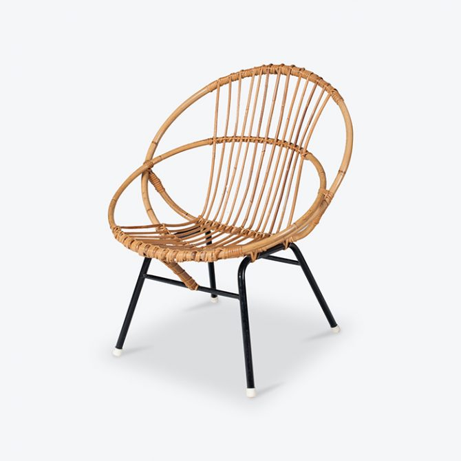 Rattan Lounge Chair By Rohe Noordwolde 1960s Netherlands Thumb2.jpg