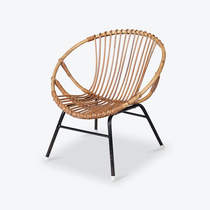 Rattan Lounge Chair By Rohe Noordwolde 1960s Netherlands Thumb3.jpg