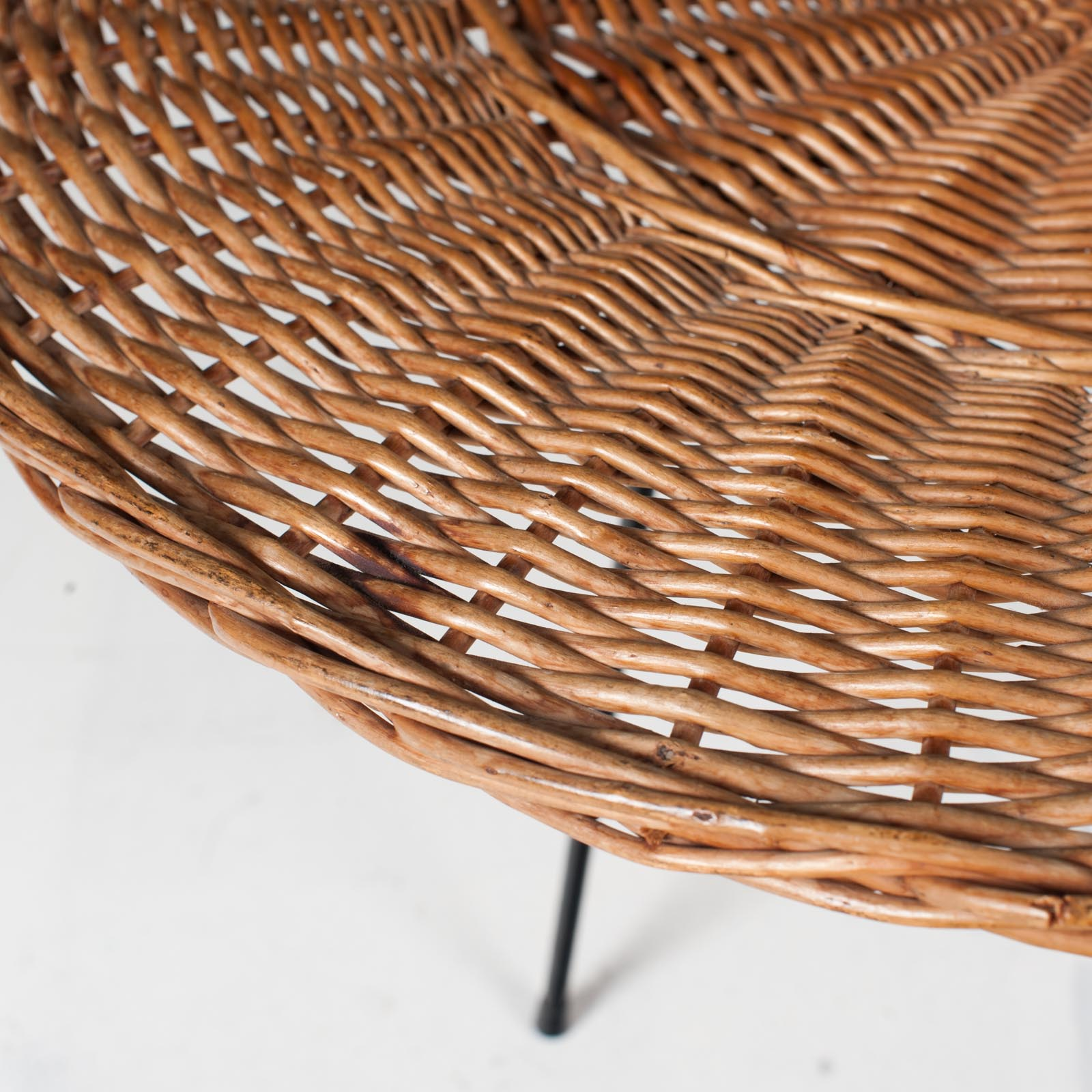 Rattan Side Table 1950s France 04
