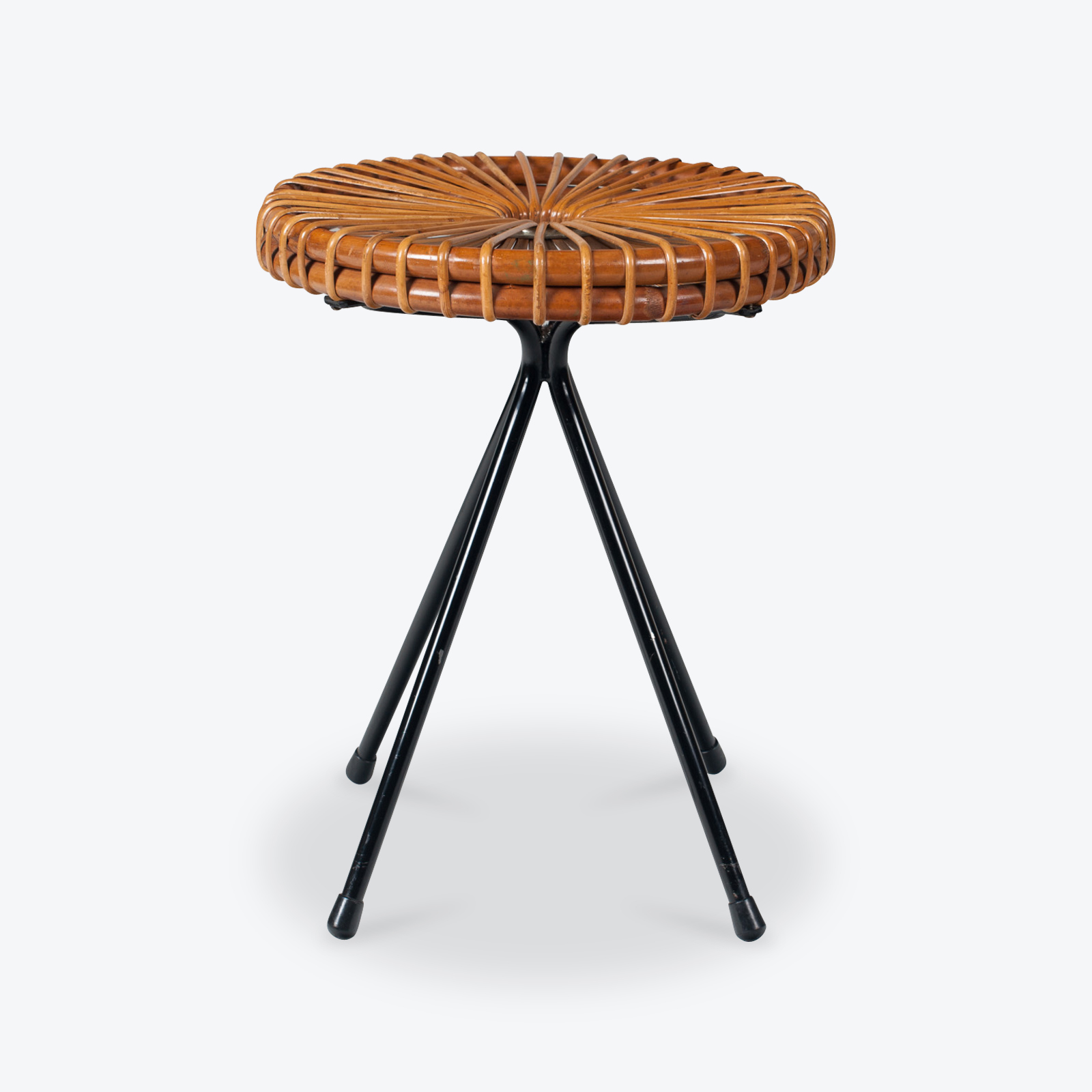 Ratten Stool By Dirk Van Sliedregt For Rohe Noordwolde 1950s Netherlands 01