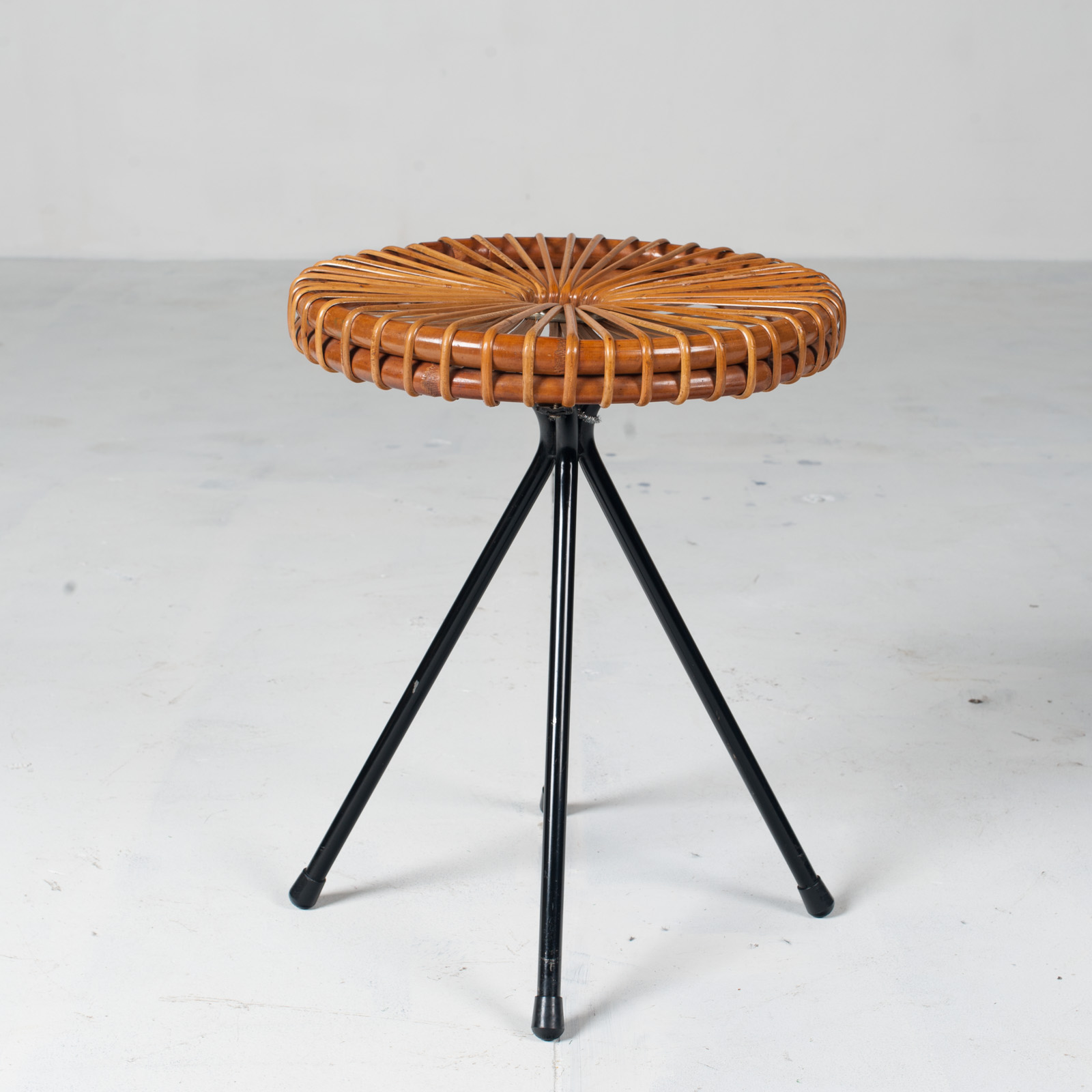 Ratten Stool By Dirk Van Sliedregt For Rohe Noordwolde 1950s Netherlands 02