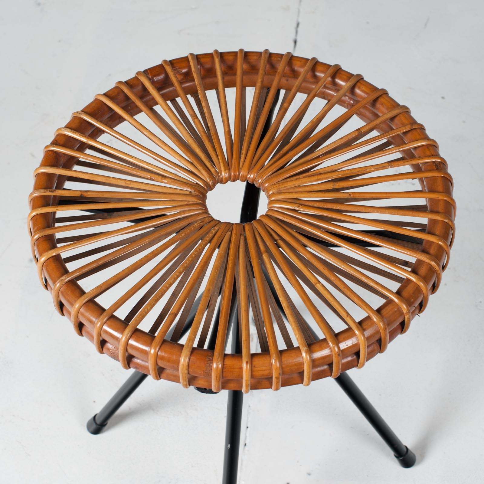 Ratten Stool By Dirk Van Sliedregt For Rohe Noordwolde 1950s Netherlands 03