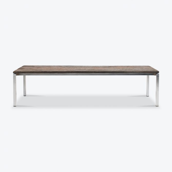 Rectangular Coffee Table With Slate And Chrome Base 1960s Netherlands Thumb.jpg