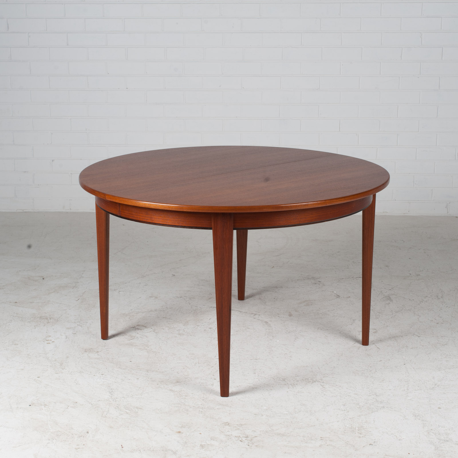 Round Dining Table By Omann Jun In Teak With Three Extensions 1960s Denmark 02