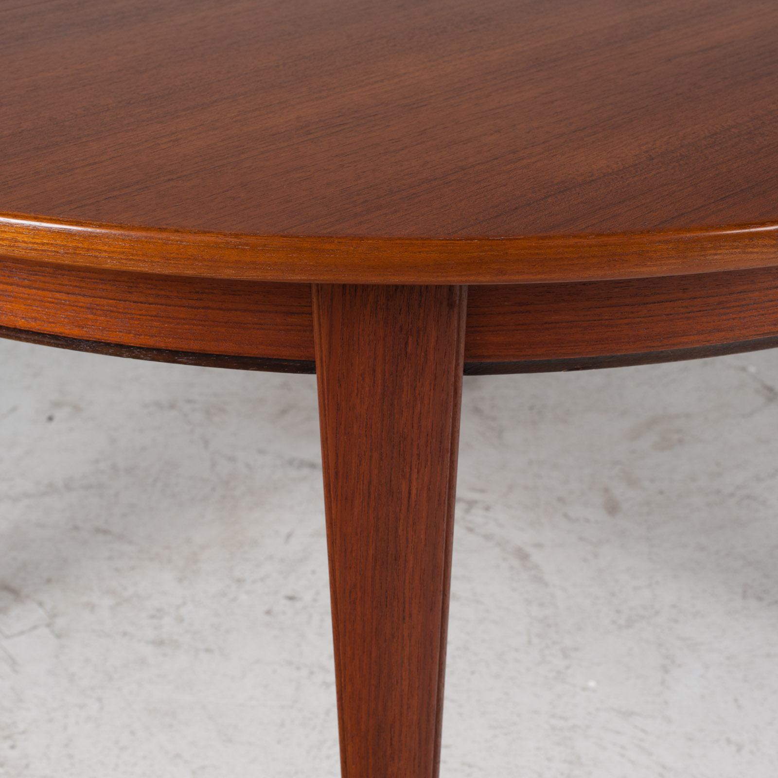 Round Dining Table By Omann Jun In Teak With Three Extensions 1960s Denmark 03